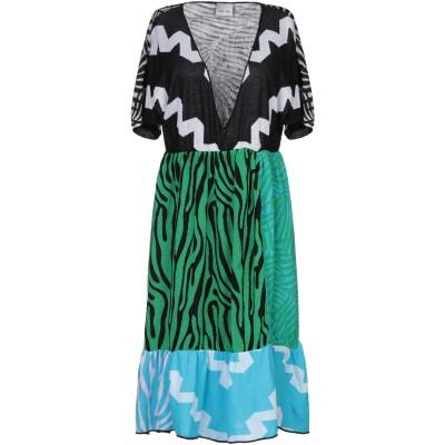 VIKI-AND ミニワンピース&ドレス グリーン 38 コットン 100% ミニワンピース&ドレス