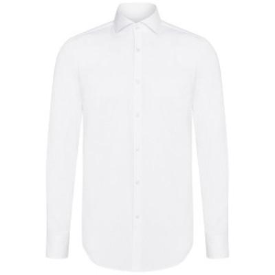 ヒューゴボス メンズ シャツ トップス BOSS Slim-Fit Dress Shirt WHITE