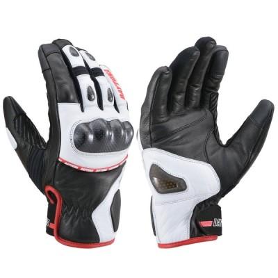 HBG-058 AWスポーツショートグローブ ブラック/ホワイト/レッド XLサイズ DAYTONA(デイトナ)
