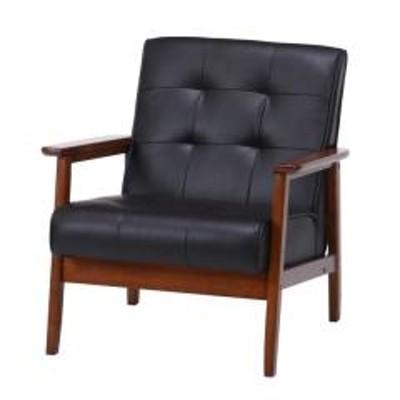 ソファ 幅65cm 一人掛け 1人用 ひじ掛け レザー調 ファブリック 布張り 木製 パーソナルソファ チェア ソファー ( 送料無料 リビングソファ 1人掛け 肘付き 椅子 一人用 1人掛けソファ イス チェアー リビング おしゃれ )