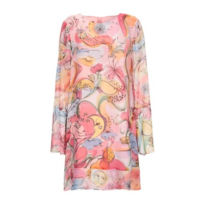 BOUTIQUE MOSCHINO ミニワンピース&ドレス ピンク 42 シルク 100% ミニワンピース&ドレス