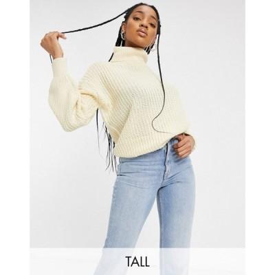 スリードベア Threadbare Tall レディース ニット・セーター トップス grace chunky knit jumper クリーム