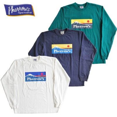 Pherrow's フェローズ Tシャツ 20W-PLT3 ロンT 長袖 白 紺 緑 M-XL アメカジ