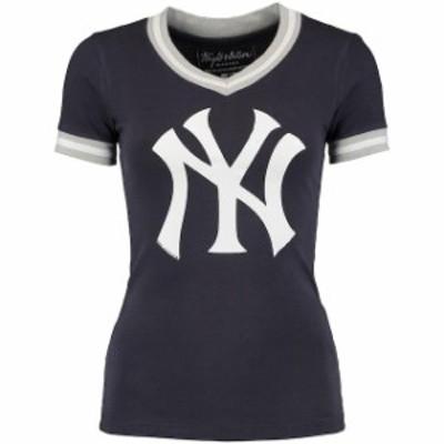 Wright & Ditson ライト アンド ディットソン スポーツ用品  Wright & Ditson New York Yankees Womens Navy Eephus B