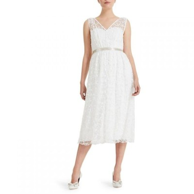 フェーズ エイト Phase Eight レディース パーティードレス ワンピース・ドレス Amalia Embroidered Bridal Dress Ivory