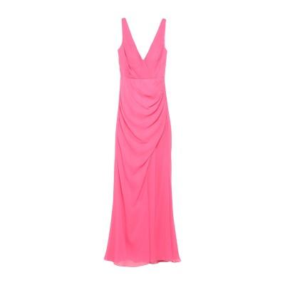 VITTORIA ROMANO ロングワンピース&ドレス フューシャ 44 ポリエステル 100% ロングワンピース&ドレス