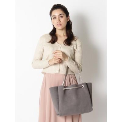 【大きいサイズ】スエード風アオリトート 大きいサイズ バッグ(鞄) レディース