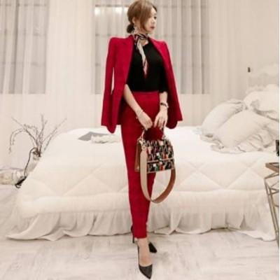 即納 結婚式のパンツスタイル パンツスーツ お呼ばれ パンツスーツ パーティー セットアップ スーツ 20代 30代 40代 パンツスタイル