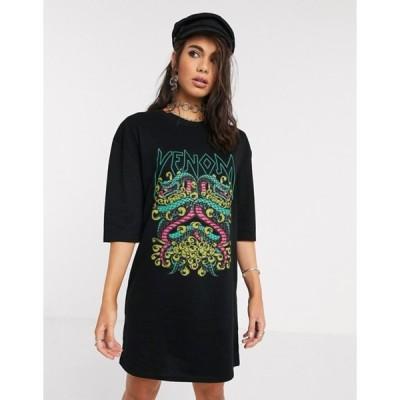 ロココ レディース ワンピース トップス Rokoko oversized boxy t-shirt dress with snake graphic