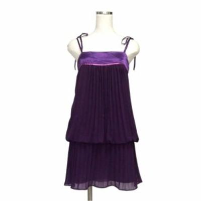 BANNER BARRETT バナーバレット プリーツドレープキャミワンピース (パープル 紫 ドレス パーティ フォーマル タグ付き) 116675【中古】