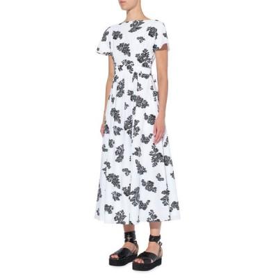 アーデム レディース ワンピース トップス Fraser Scattered Floral Print Midi Dress