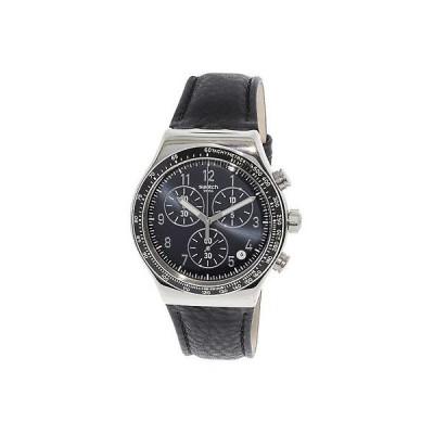腕時計 スウォッチ Swatch Men's Chic Sailor YVS448 Silver Leather Quartz Dress Watch