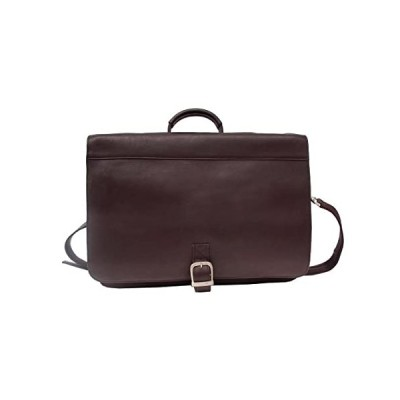Piel Leather Executive Briefcase, Chocolate, One Size