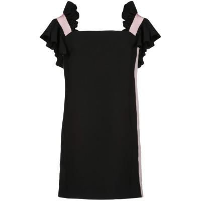 BROGNANO ミニワンピース&ドレス ブラック 40 ポリエステル 100% / コットン / レーヨン ミニワンピース&ドレス