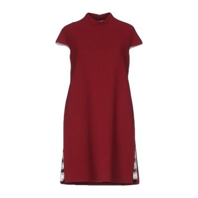 ALBINO TEODORO ミニワンピース&ドレス ボルドー 44 ウール 100% ミニワンピース&ドレス