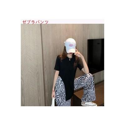 【送料無料】ファッション セット 夏 韓国風 単一色 ラウンドネック半袖 不規則な | 364331_A63330-3573033