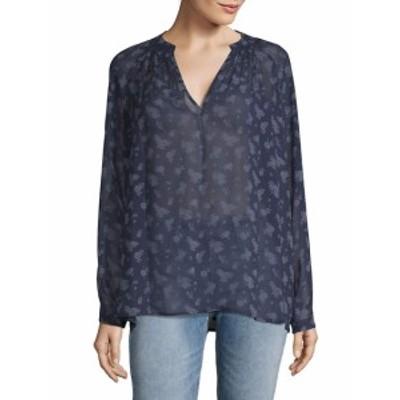ヴィンス レディース トップス シャツ Calico Floral Silk Shirt