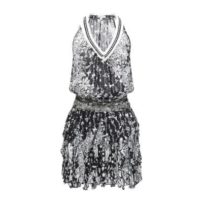 POUPETTE ST BARTH ミニワンピース&ドレス ブラック S レーヨン 100% ミニワンピース&ドレス