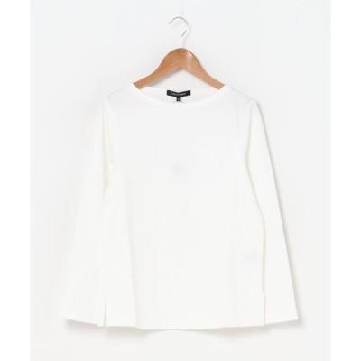tシャツ Tシャツ ボートネックのストレッチポンチカットソー《洗濯機で洗える》