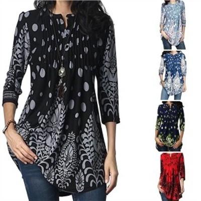 Tシャツ ワンピース レディース 秋 オシャレ tシャツ ブラウス 七分袖 大きいサイズ きれいめ シルエット 30代40代 通