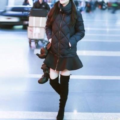 アウター キルティング ティアード コート フリル フレア 個性的 スタンドカラー カジュアル シンプル 秋 冬 無地 大人 デート お出かけ