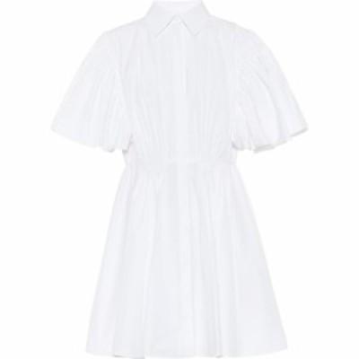 ヴァレンチノガラヴァーニ Valentino / Garavani レディース ワンピース ワンピース・ドレス Valentino cotton-blend minidress Bianco