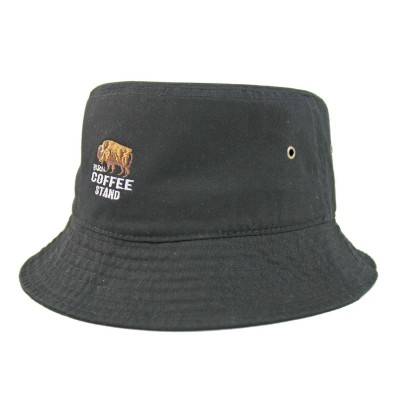 ウェルテイラード Well-Tailored BISON刺繍バケットハット BUCKET HAT (Black)