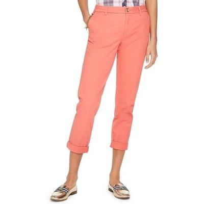 トミー ヒルフィガー カジュアルパンツ ボトムス レディース Cuffed Chino Straight-Leg Pants, Created for Macy's Coralie