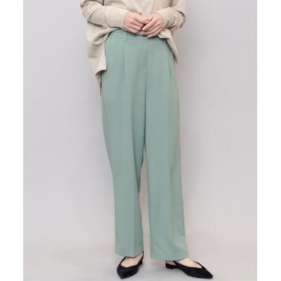 mili an deni / ペアスキンセンタープレスセミワイドパンツ WOMEN パンツ > スラックス