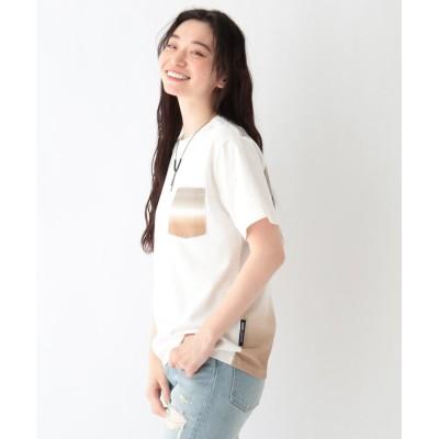BASE CONTROL LADYS(ベース コントロール レディース) ディップダイカラープリント 半袖ポケットTシャツ