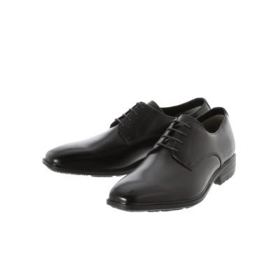 【タカキュー】 MOON STAR × around the shoes 高機能 外羽根プレーントゥドレスシューズ メンズ ブラック 25.0cm TAKA-Q