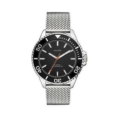 s.Oliver Men's Analogue Quartz Watch with Stainless Steel Strap SO-3482-MQ 並行輸入品