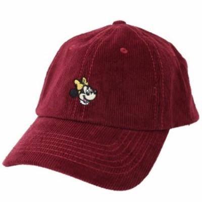 ミニーマウス コーデュロイ 刺繍 ベースボールキャップ 帽子 ディズニー 男女兼用 キャラクター グッズ