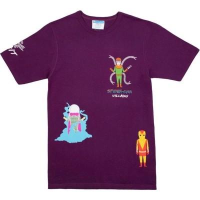 BAIT メンズ Tシャツ トップス x Spiderman x Champion Spiderman Villains Tee purple