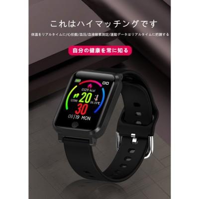 スマートウォッチ 日本製センサー 血中酸素濃度計 24時間体温監視 フルタッチス クリーン 着信 睡眠 心拍数 歩数計 腕時計 メンズ レディース