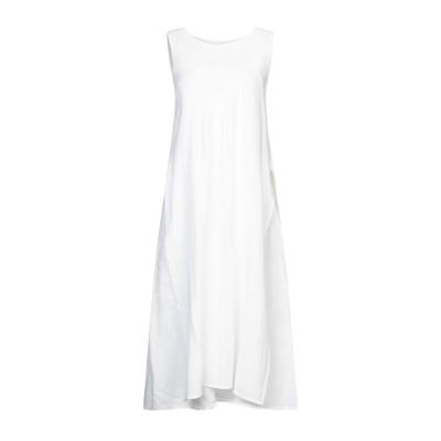 アルファスタジオ ALPHA STUDIO 7分丈ワンピース・ドレス ホワイト 48 リネン 100% 7分丈ワンピース・ドレス