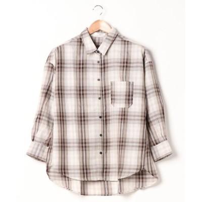 シャツ ブラウス チェックシャツ