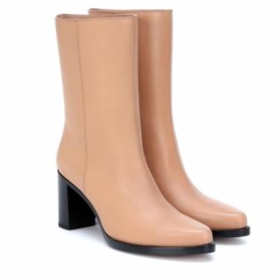 レグレス Legres レディース ブーツ ショートブーツ シューズ・靴 Leather ankle boots Tan