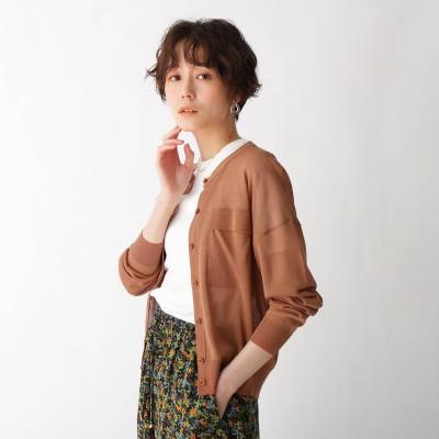 エージー バイ アクアガール AG by aquagirl ポケットデザインシアーカーディガン (ダークオレンジ)