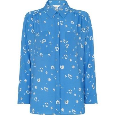 ホイッスルズ Whistles レディース ブラウス・シャツ トップス Watercolour Animal Blouse Blue/Multi