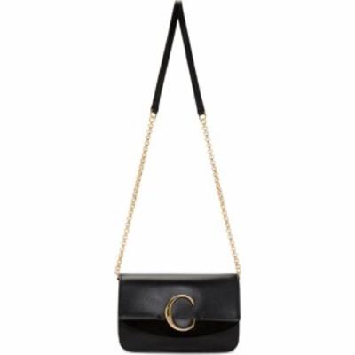 クロエ Chloe レディース ショルダーバッグ バッグ black c chain clutch bag Black