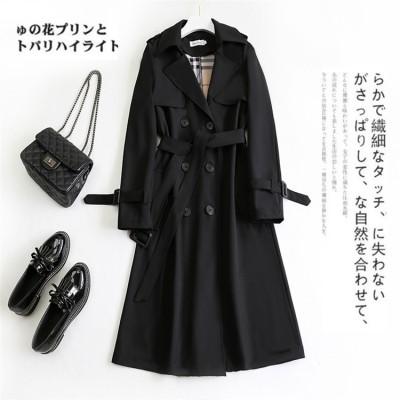 買いたくない理由をください。韓国ファッション 2020秋 冬 中・長セクション コート トレンチコート 新スタイル スリムフィット ダブルボタン スター同じスタイル ブリティッシュスタイル