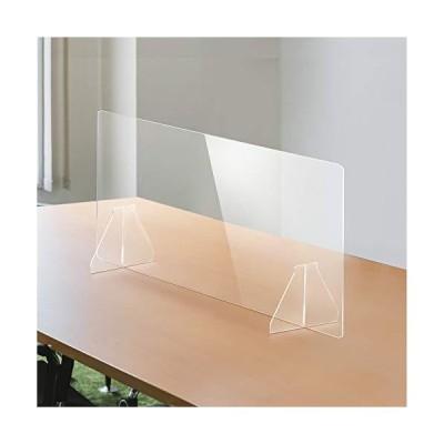 当日発送 日本製 透明アクリルパーテーショ ン 多種サイズ 特大足付き 安定性重視 デ スクスクリーン 仕切り板 衝立 (約幅900x高さ6