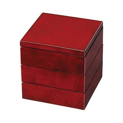 中西工芸 重箱 3段 ななこ塗 3段重箱 4.5寸