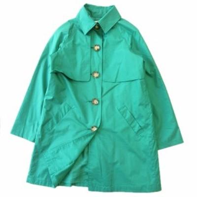 【中古】美品 トランテアン ソン ドゥ モード 31 Sons de mode ステンカラー コート ジャケット ブルゾン M 緑 ▼5