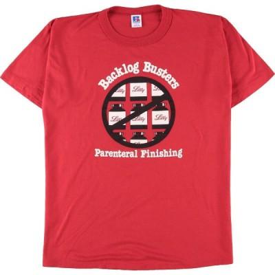 90年代 ラッセル Russell プリントTシャツ USA製 メンズL ヴィンテージ /eaa136674