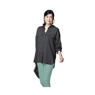 ドゥクラッセテンセルコットン・CPOシャツジャケット (15260) 9チャコール