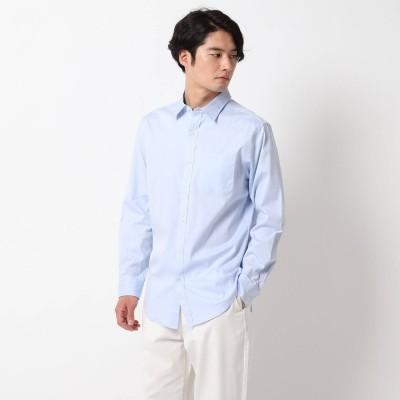 ザ ショップ ティーケーメンズ THE SHOP TK(Men) ピンオックスワイドカラーシャツ (サックス)