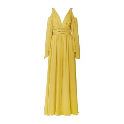 DUNDAS ロングワンピース&ドレス オークル 36 シルク 100% ロングワンピース&ドレス