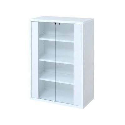 食器棚 おしゃれ キッチン 食器収納 キッチンラック ロータイプ 小型 ミニ食器棚 小さい 約 幅60 スリム 薄型 奥行30 白 作業台